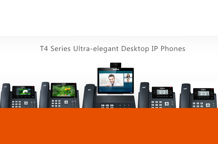 T4 Series Ultra-Elegant Desktop IP Phones